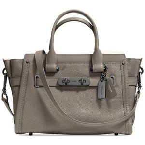 Coach Swagger 27 (Colour: Fog) leather handbag